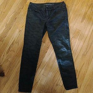Dark camo AE jeans jegging stretch